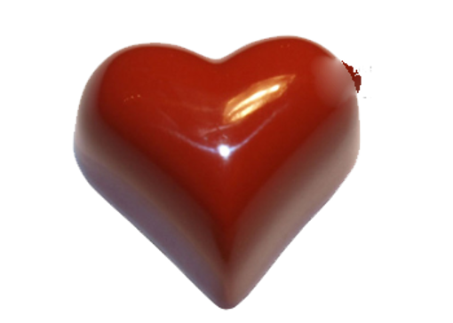 Picture of Polycarbonate heart mould  39,1x34,4 h20,3 4x5 275x205 16gr