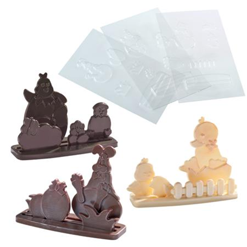 Picture of Mould KIT EASTER - 3 DIFFERENT FORMS