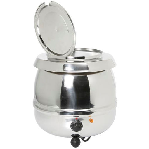 Picture of Electric soup pan with capacity for 10 lt - stainless steel